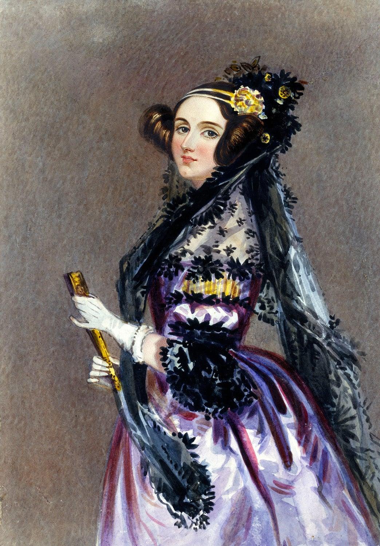 Wasserfarbenporträt von Ada Lovelace, gemalt von Alfred Edward Chalon um 1838