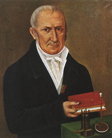 Darstellung von Alessandro Volta