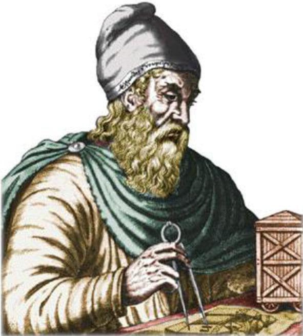 Mittelalterliches Idealporträt von Archimedes