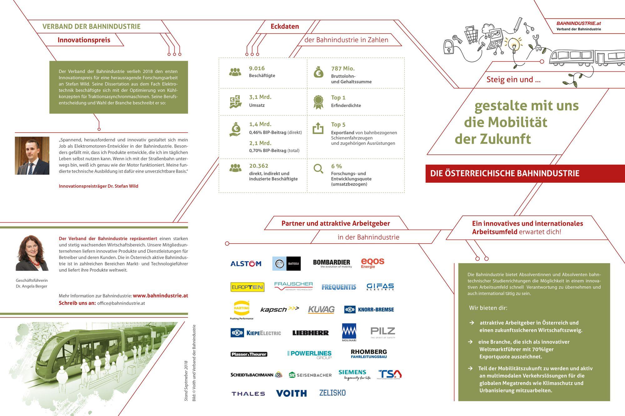 Nähere Informationen zur Bahnindustrie in Österreich