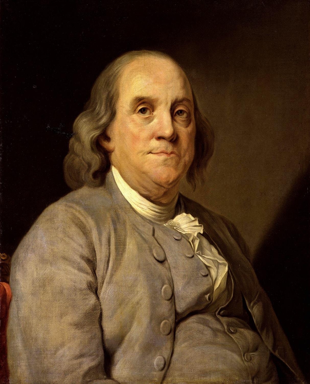 Porträt von Benjamin Franklin nach Joseph Duplessis