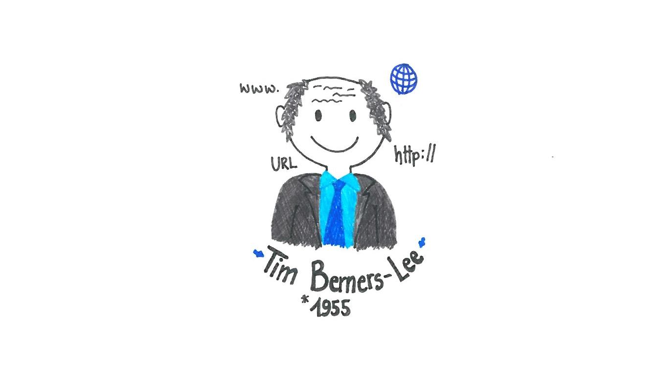 Illustration von Tim Berners-Lee