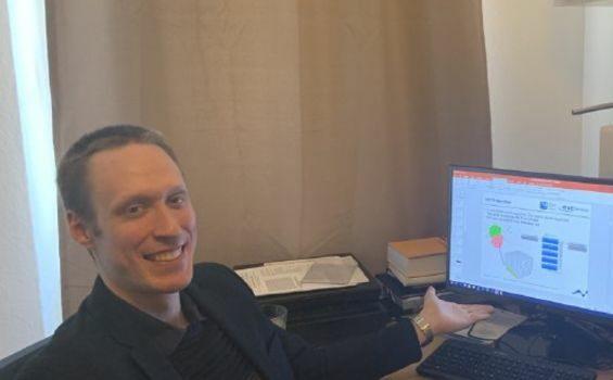 Hannes Kohlmann während der Blitzforschung während Corona