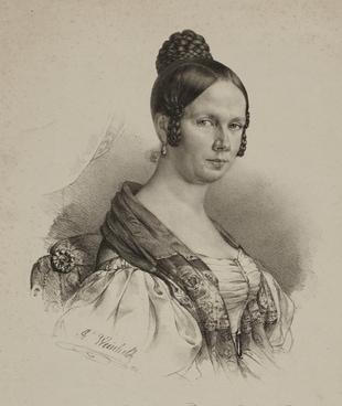 Porträt von Caroline Eichler, gemalt von Johann Georg Weinhold.