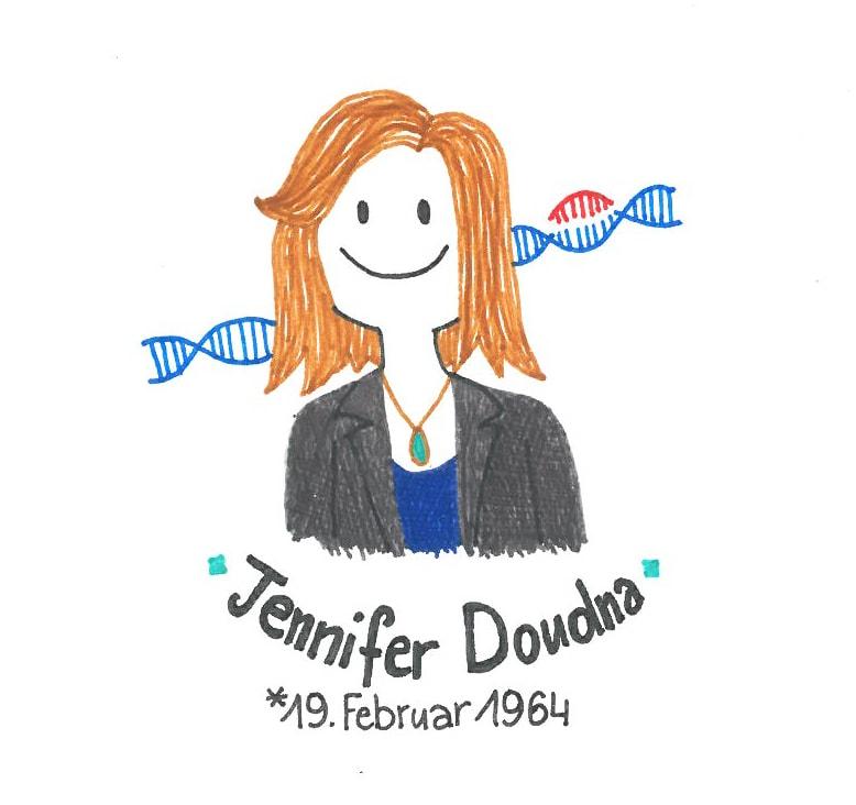 Illustration von Jennifer Doudna