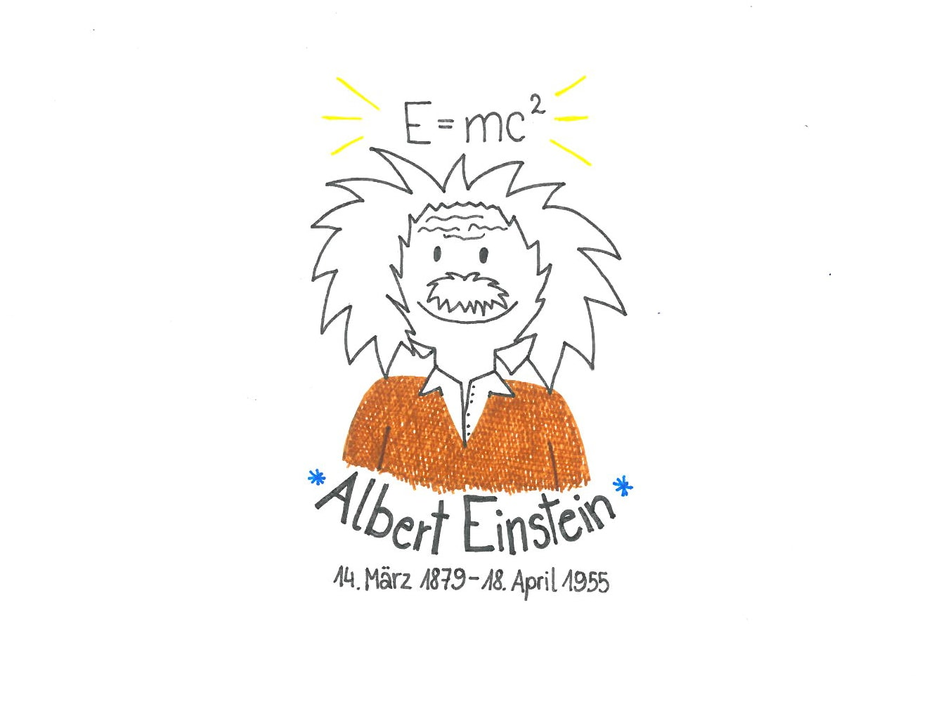 Illustration von Albert Einstein
