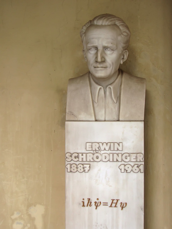 Büste von Erwin Schrödinger an der Universität Wien