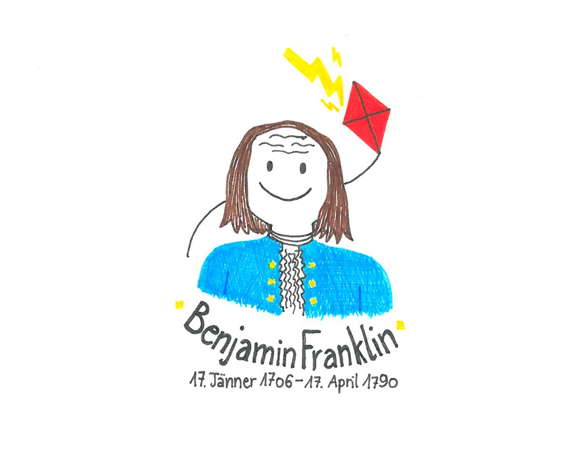 Illustration von Benjamin Franklin