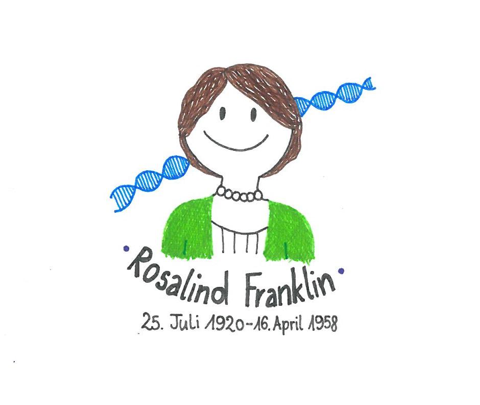 Illustration von Rosalind Franklin