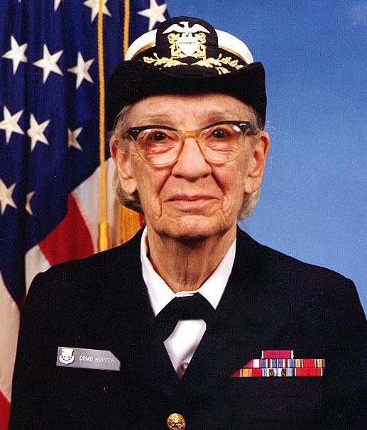 Commodore Grace M. Hopper, USNR Official portrait photograph