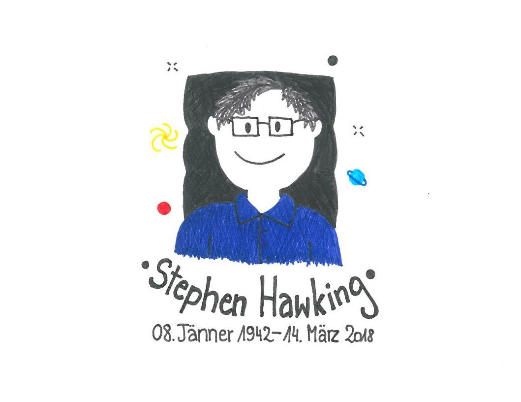 Illustration von Stephen Hawking