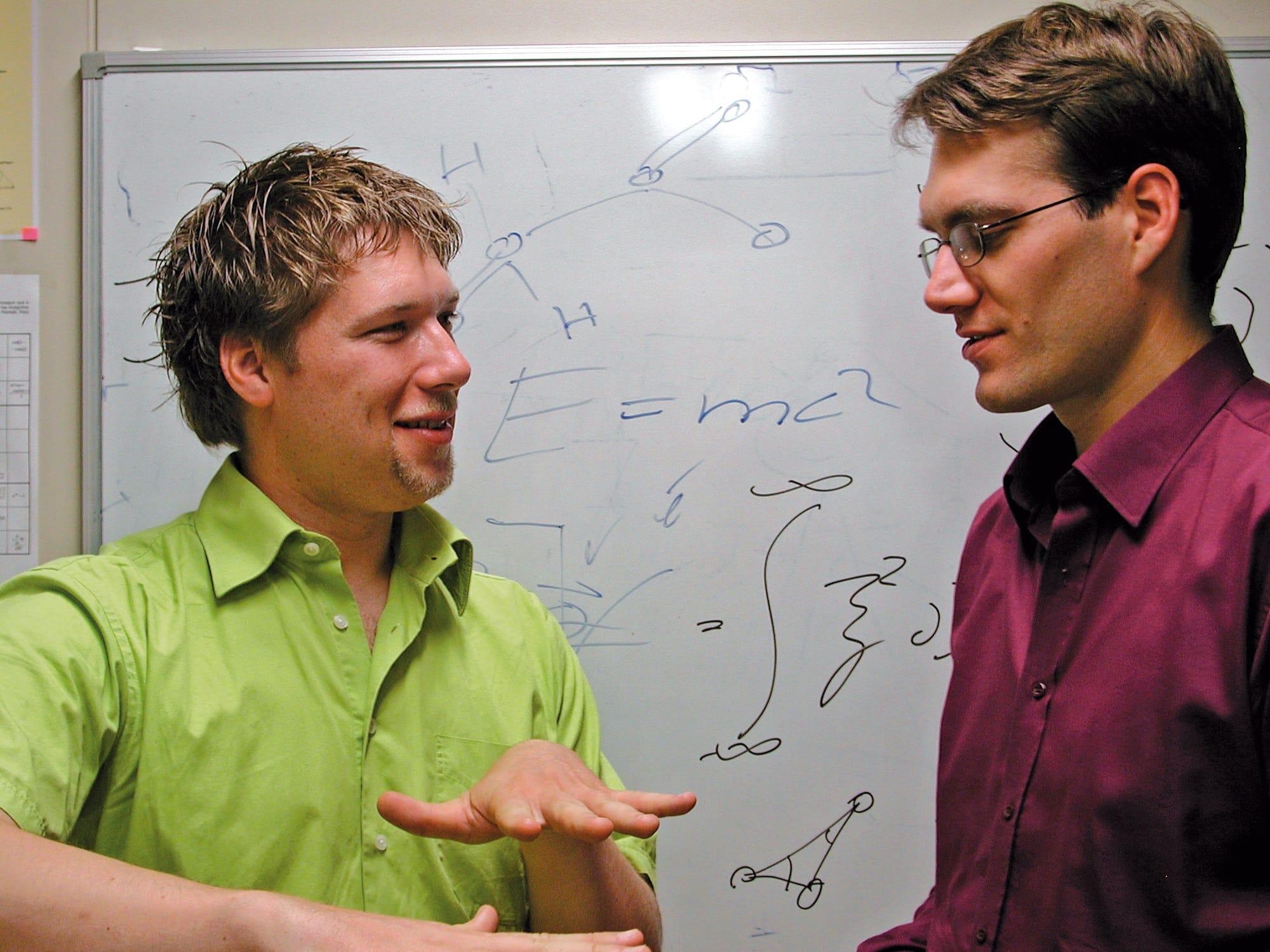 Stefan Kalchmair und Clemens Ostermaier im Gespräch