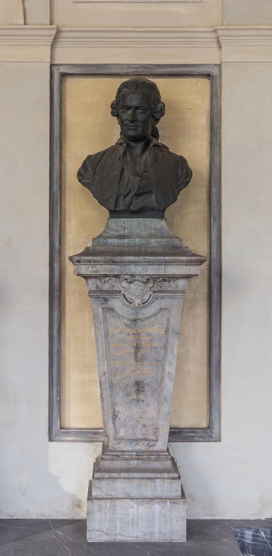 Bronzebüste von Jan Ingenhousz im Arkadenhof der Universität Wien