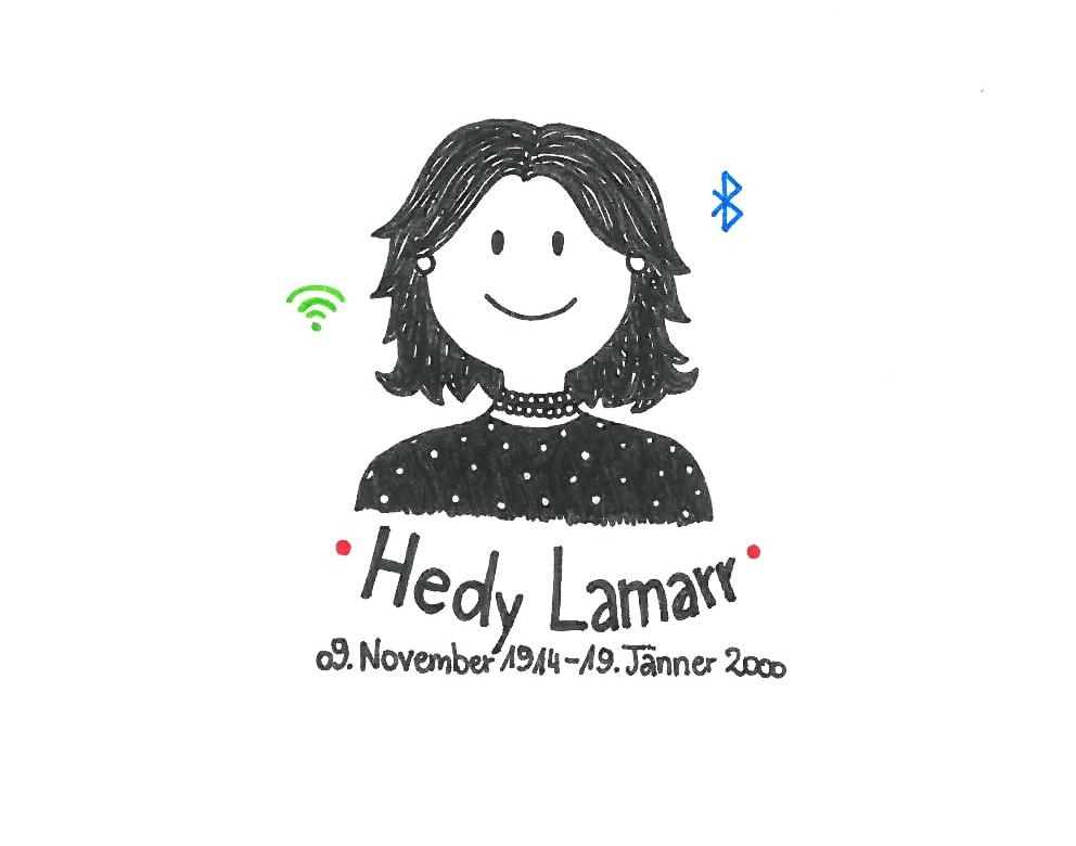 Illustration von Hedy Lamarr