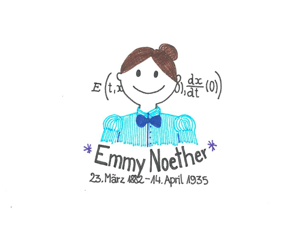 Illustration von Emmy Noether