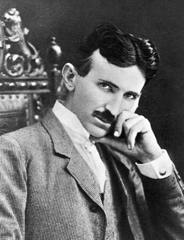 Fotografie von Nikola Tesla