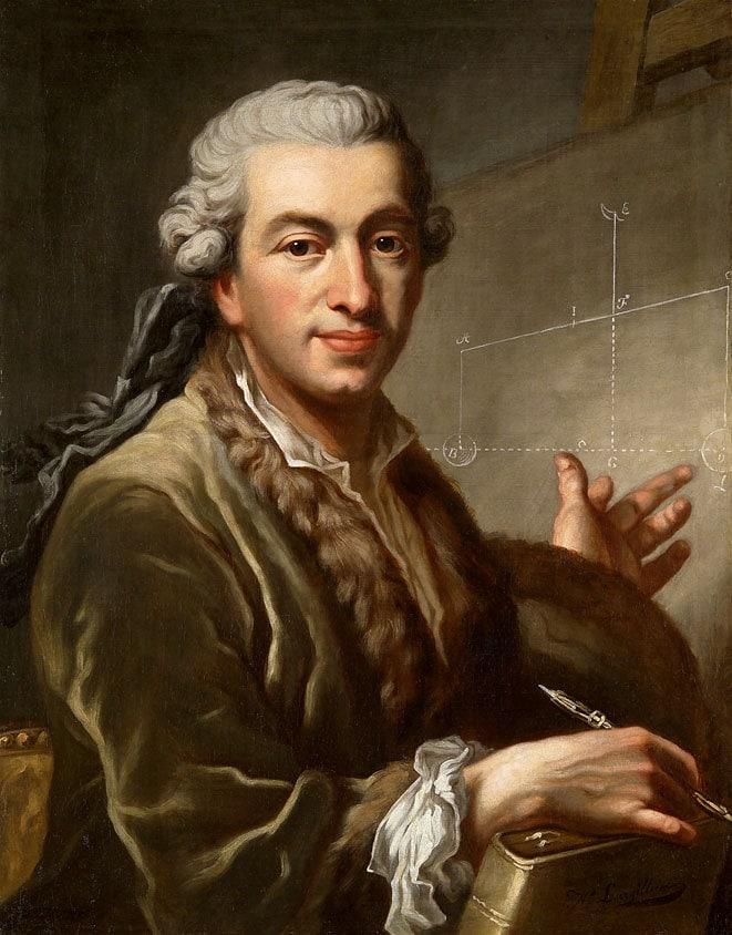 Porträt des Pierre-Simon Laplace, gemalt von Johannes Ernst Heinsius