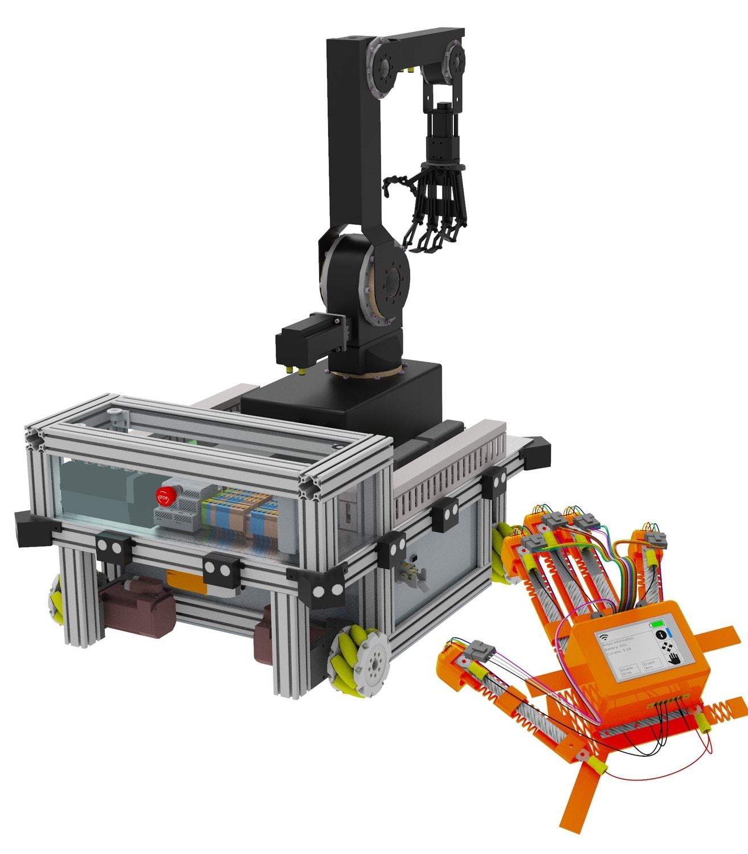 Darstellung der Roboterhand, die zum Sieg des OVE Energietechnik-Preises 2020 führte