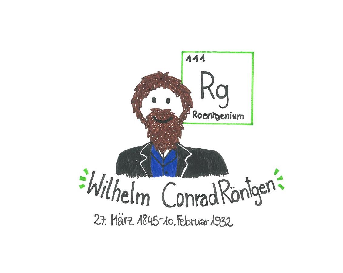 Illustration von Wilhelm Conrad Röntgen