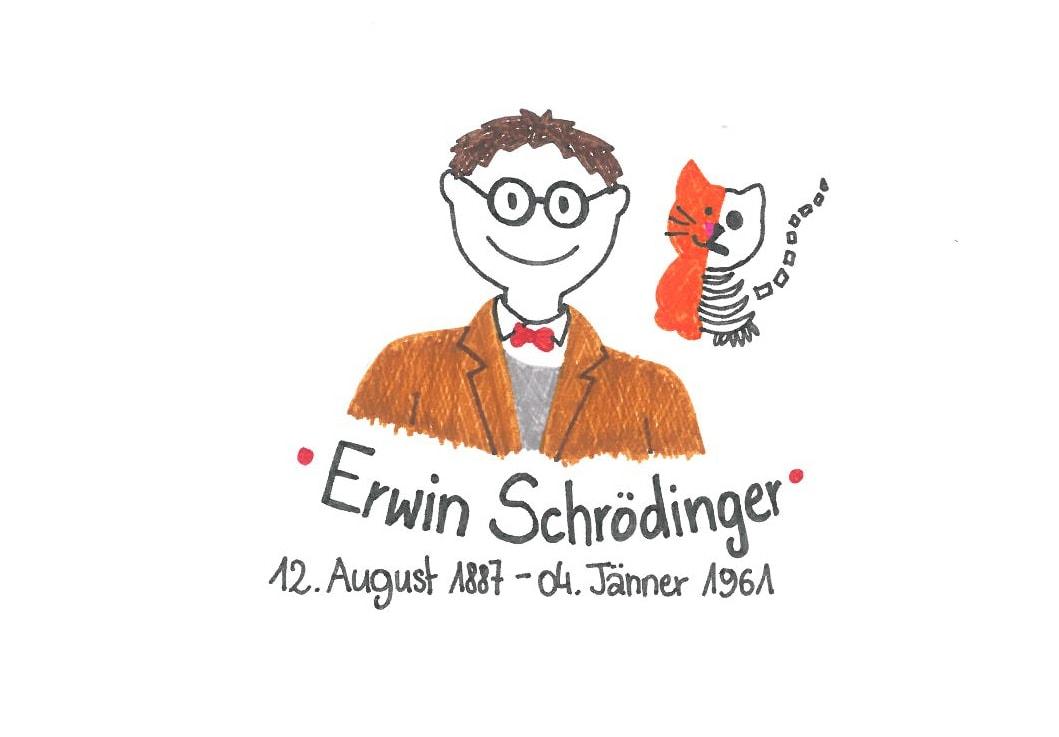 Illustration von Erwin Schrödinger
