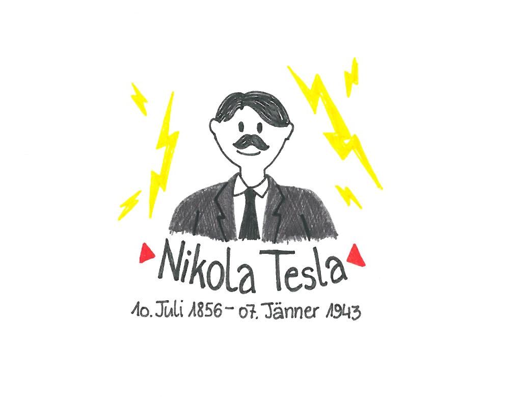 Illustration von Nikola Tesla