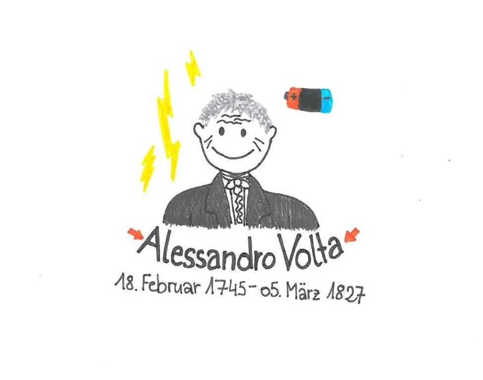 Illustration von Alessandro Volta