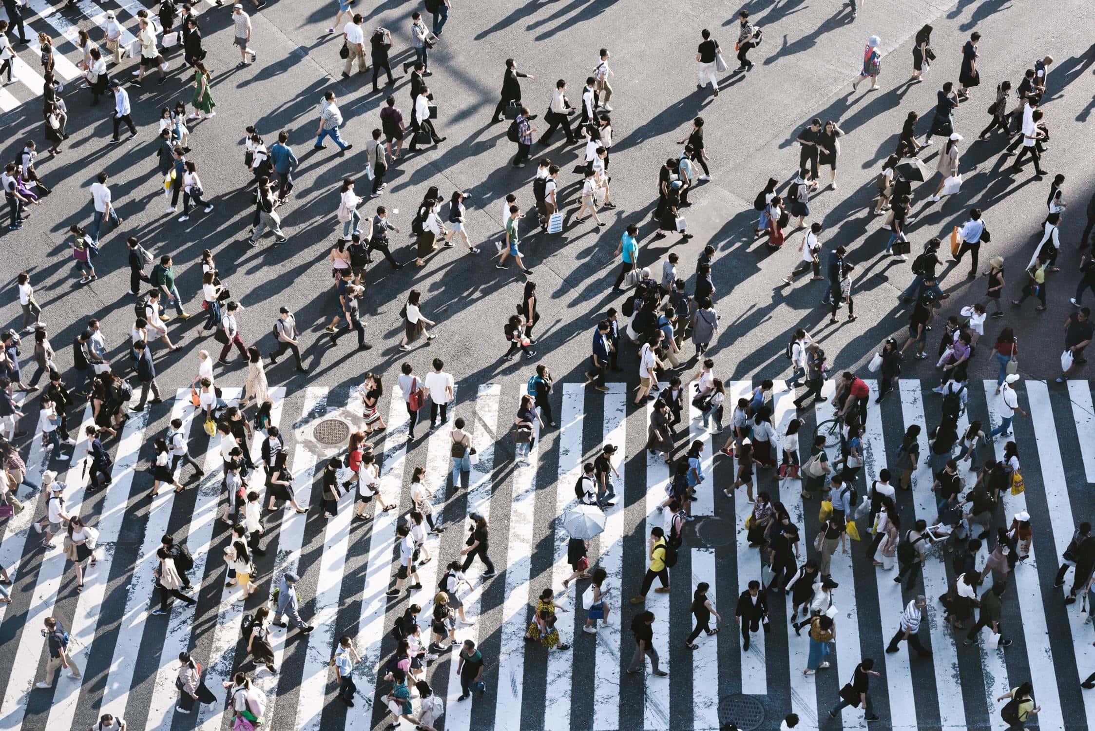 Viele Menschen auf der Straße