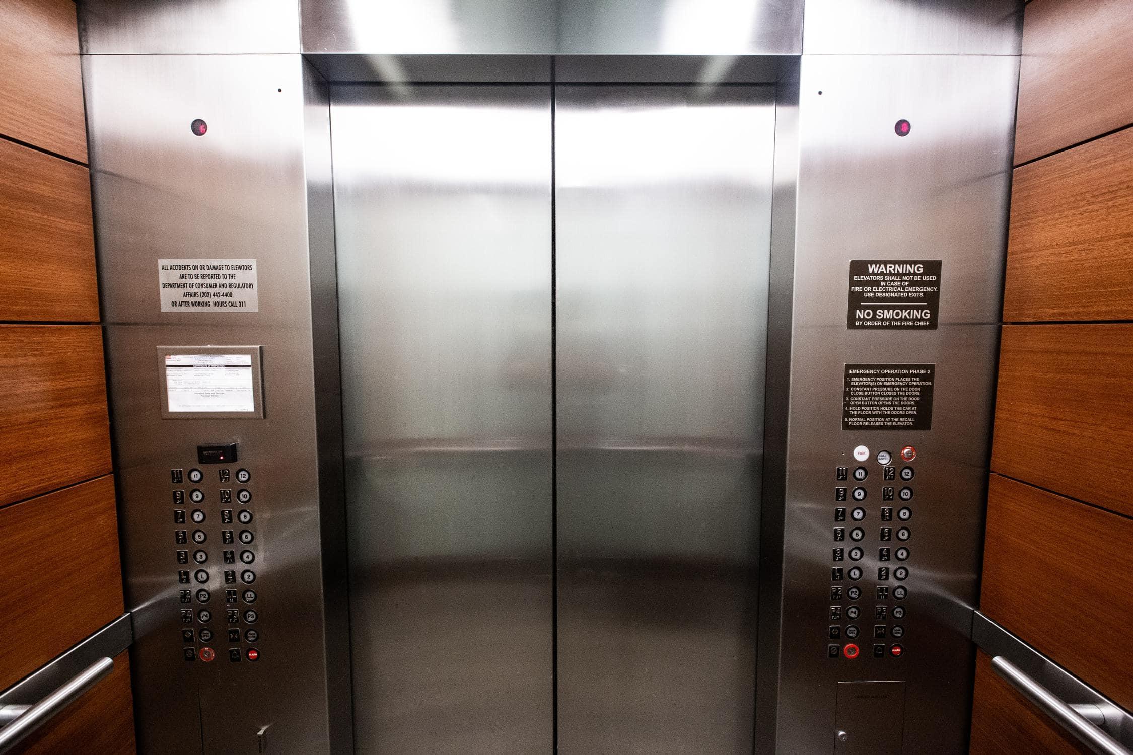Aufzug von Innen