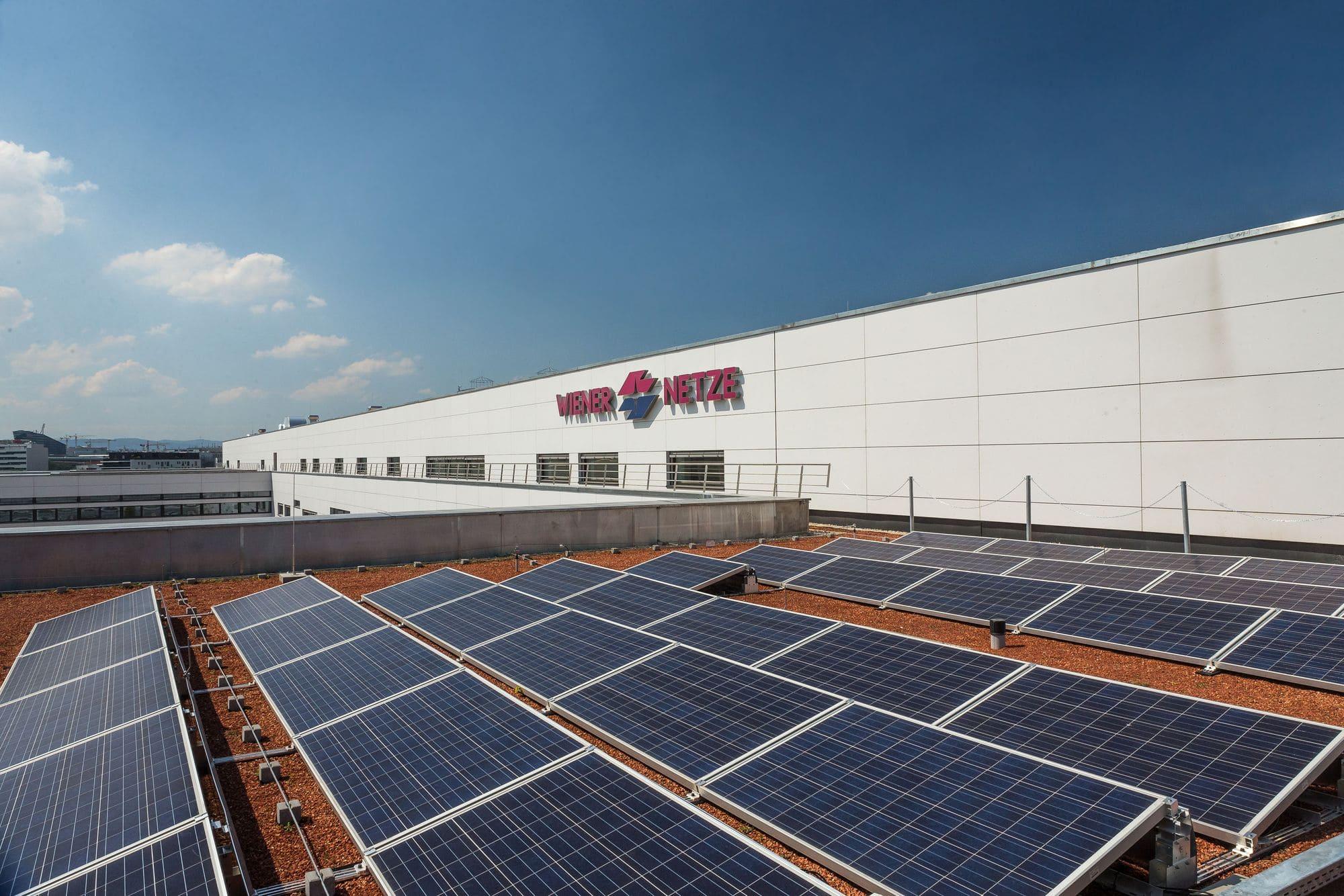 Anlage für Sonnenstrom der Wiener Netze