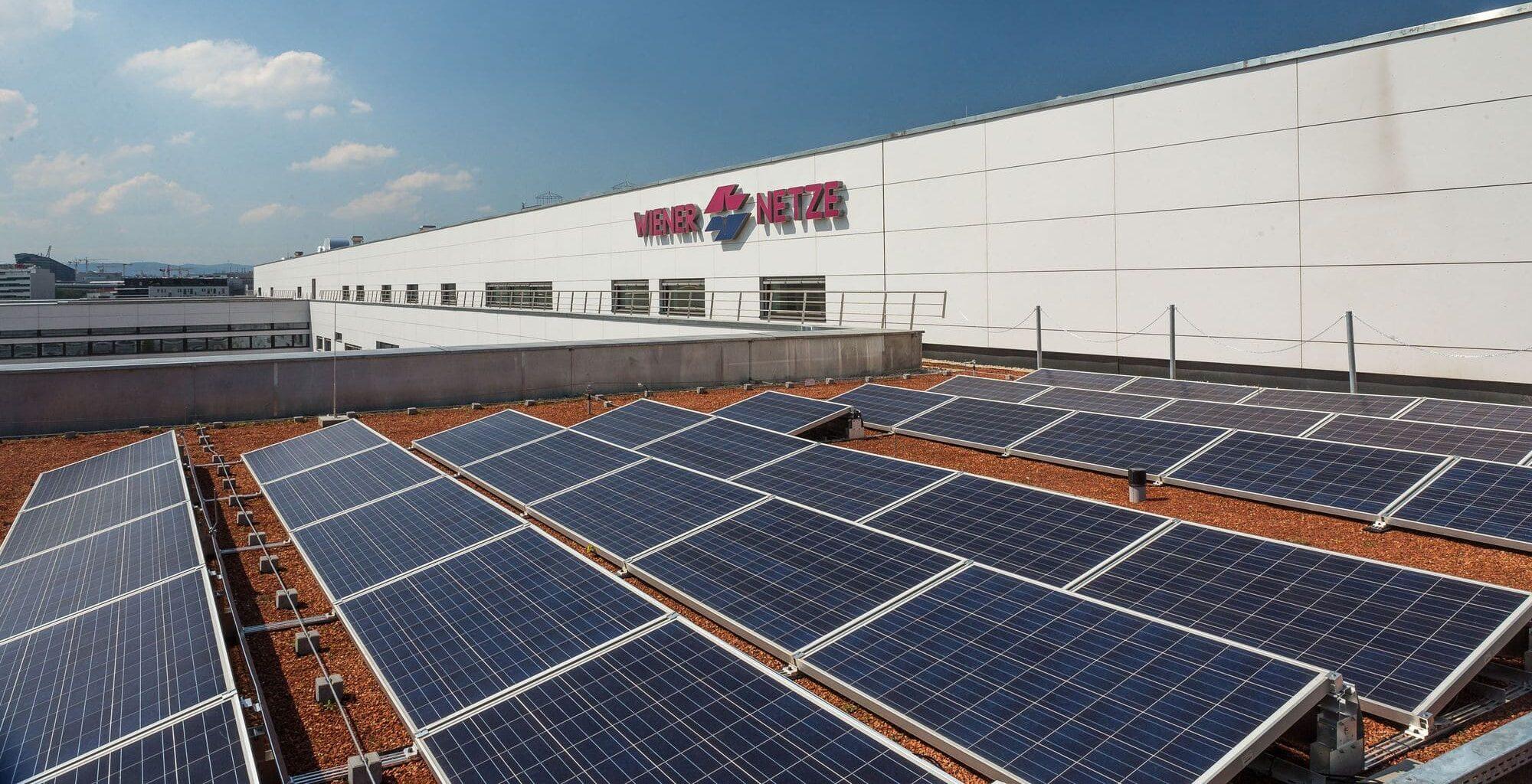 Anlage für Solarstrom der Wiener Netze