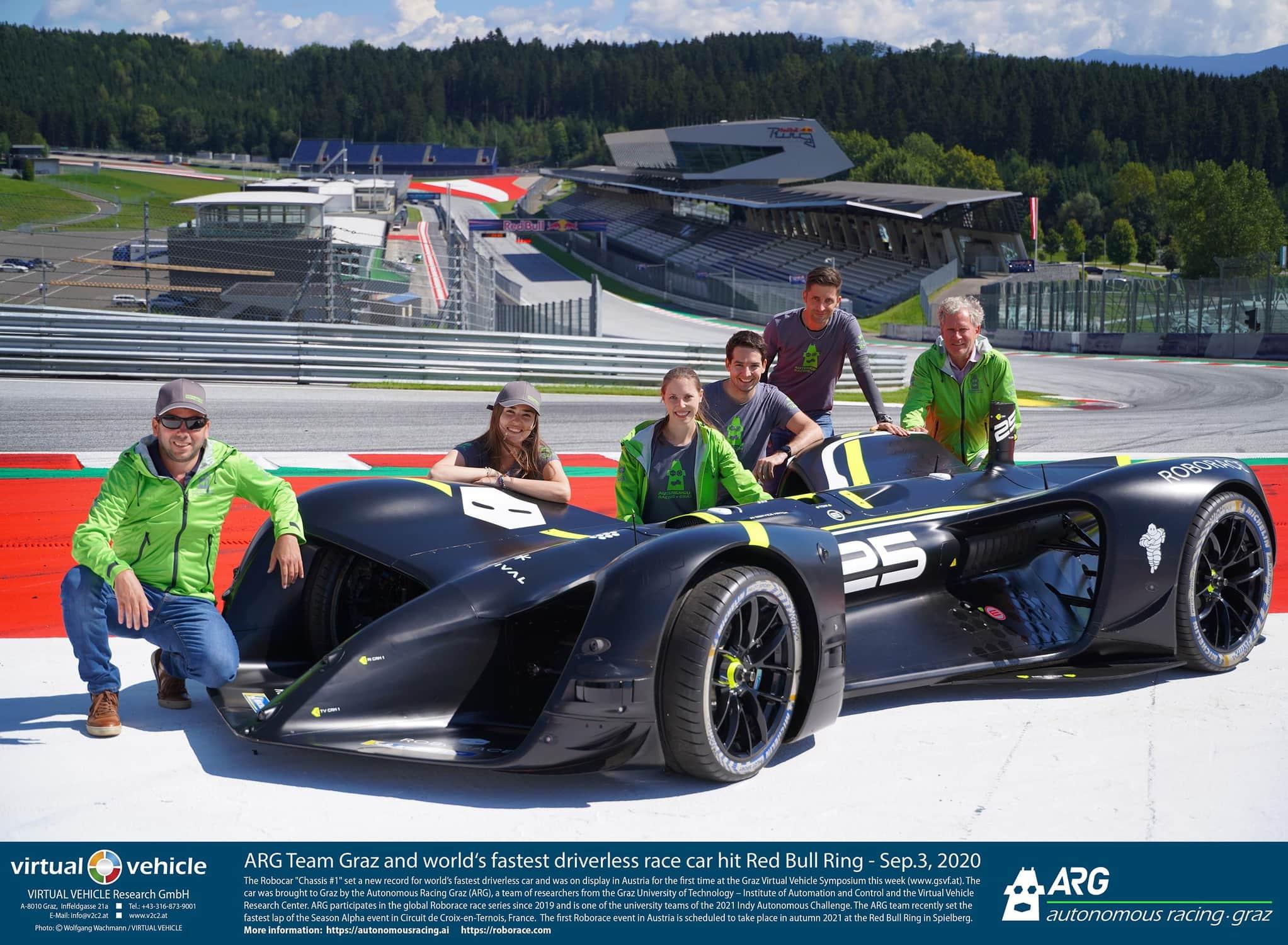 ARG Autonomous Racing Graz am Red Bull Ring zum ROBO RACE
