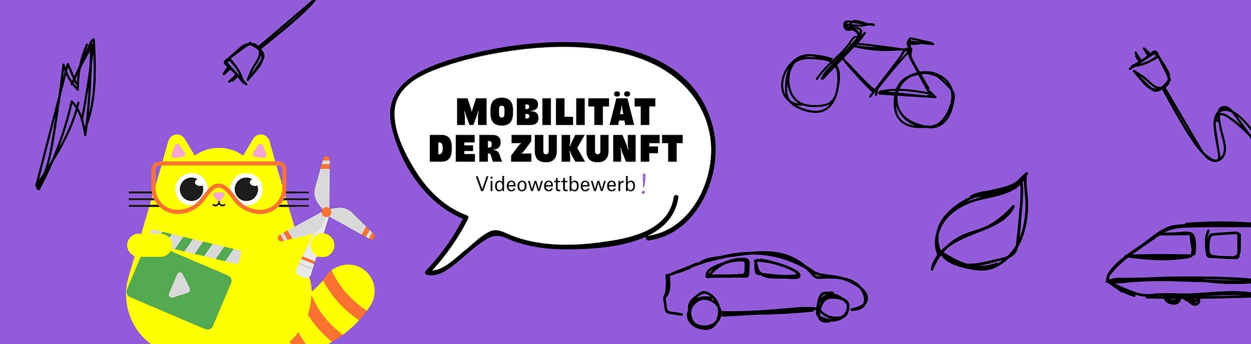 Videowettbewerb 2021 LET'S TECH Mobilität der Zukunft Wissenschaftskatze Clippy